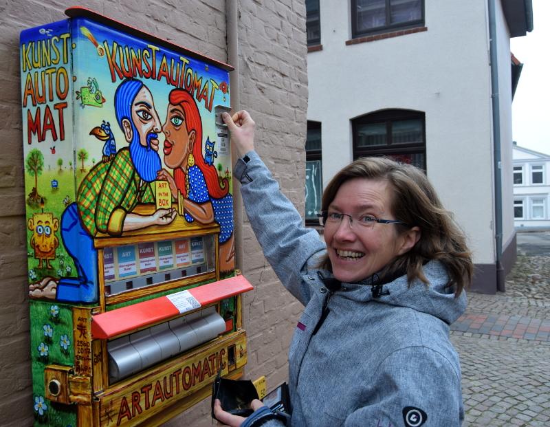 KUNSTautomat Einwurf 4 Euro