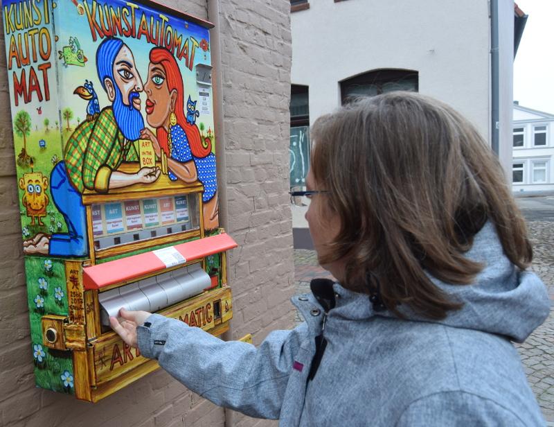 Kunst Automat Spannender Moment